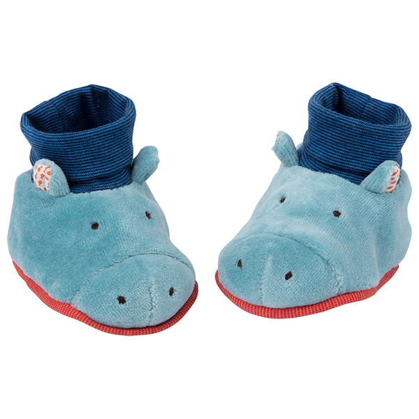 Chaussons hippopotame Les Papoum Moulin Roty