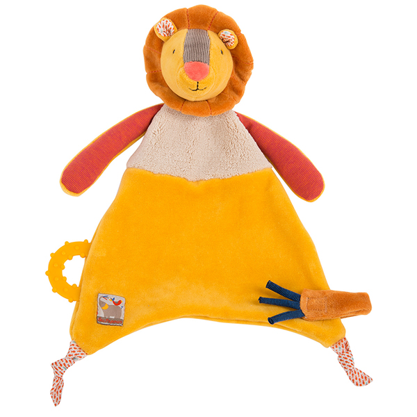 Doudou attache tétine Lion Les Papoum