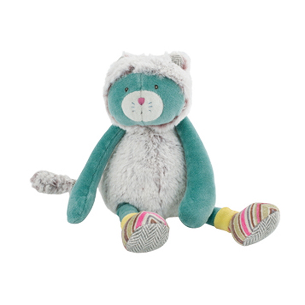 Petit chat bleu Les Pachats Moulin Roty