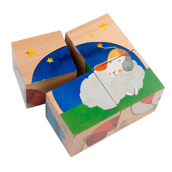Cubes en bois Les Zig et Zag
