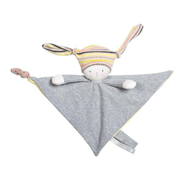 Doudou attache-tétine Nin-Nin le lapin Les Petits Dodos