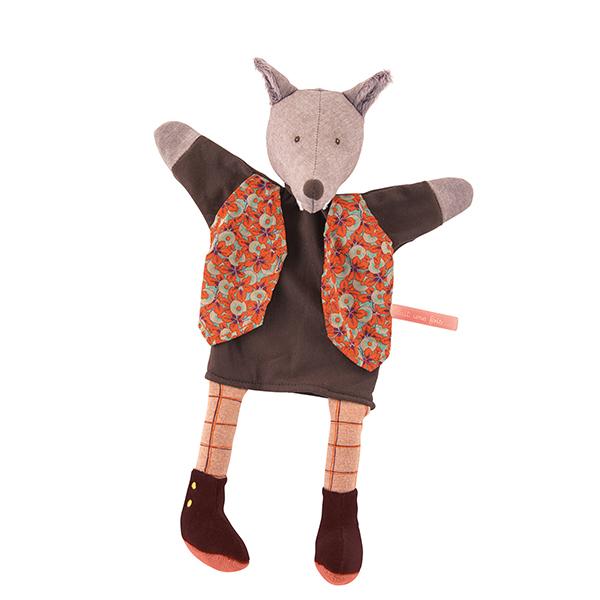 Marionnette Loup le Gentleman Moulin Roty
