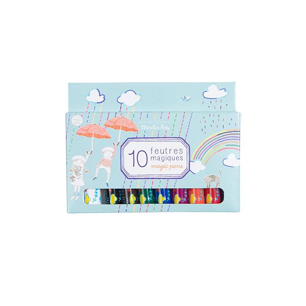 Boîte de 10 feutres magiques Aujourd'hui C'est Mercredi Moulin Roty