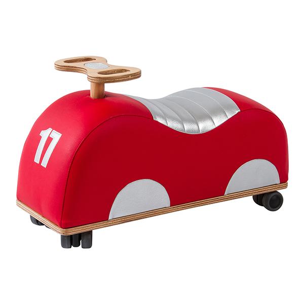 Porteur voiture de course rouge/argent