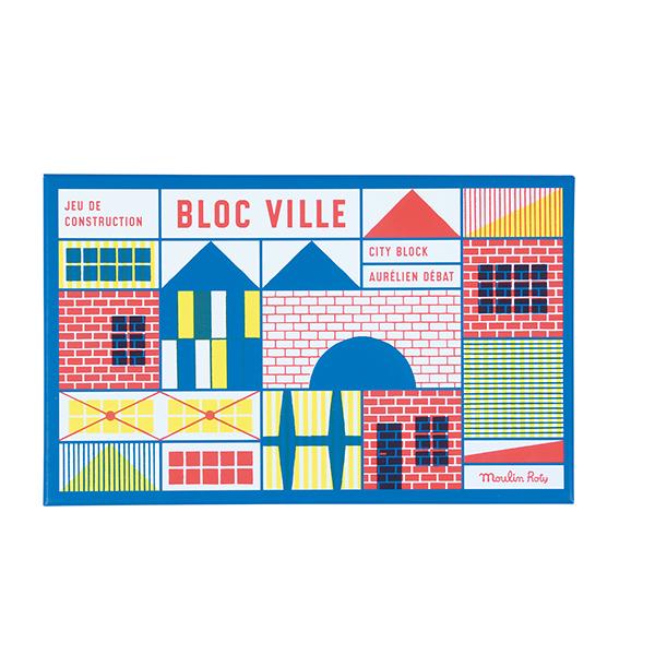 Jeu de construction (40 pièces) Dans La Ville Moulin Roty