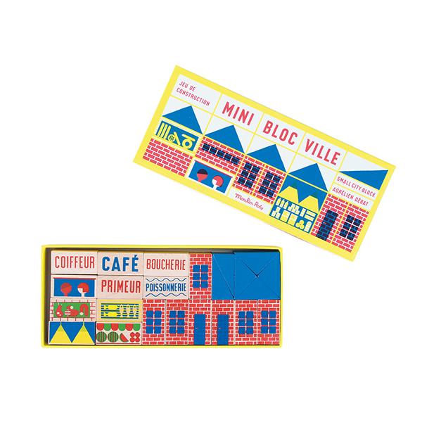 Mini jeu de construction (23 pièces) Dans La Ville Moulin Roty