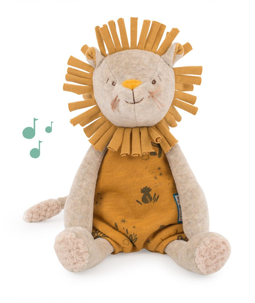 Lion de la collection Sous Mon Baobab de Moulin Roty
